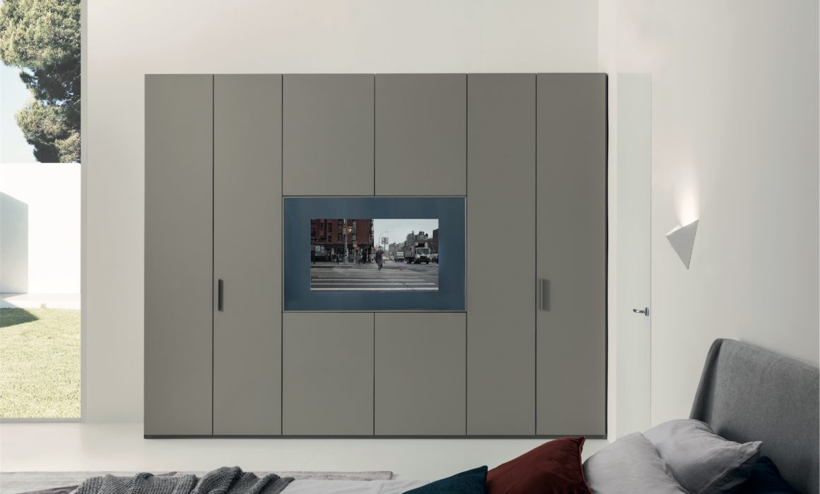 Wardrobe with built-in TV